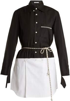 BLOUSE George lace-trimmed cotton-poplin shirtdress