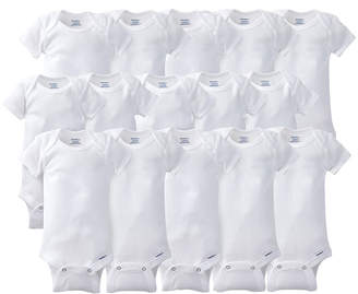 Gerber 15 Pack White Onesies Bodysuits Grow With Me Bundle