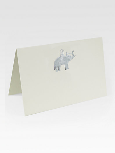 Mrs. John L. Strong Elephant Place Cards