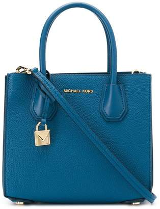 366f43b4546c MICHAEL Michael Kors Blue Leather Tote Bags - ShopStyle