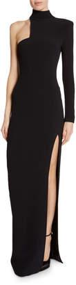 Tom Ford High-Neck Asymmetric Cutout Gown