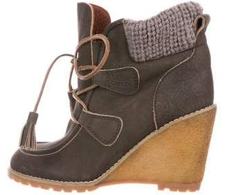 See by Chloe Knit Wedge Ankle-Boots