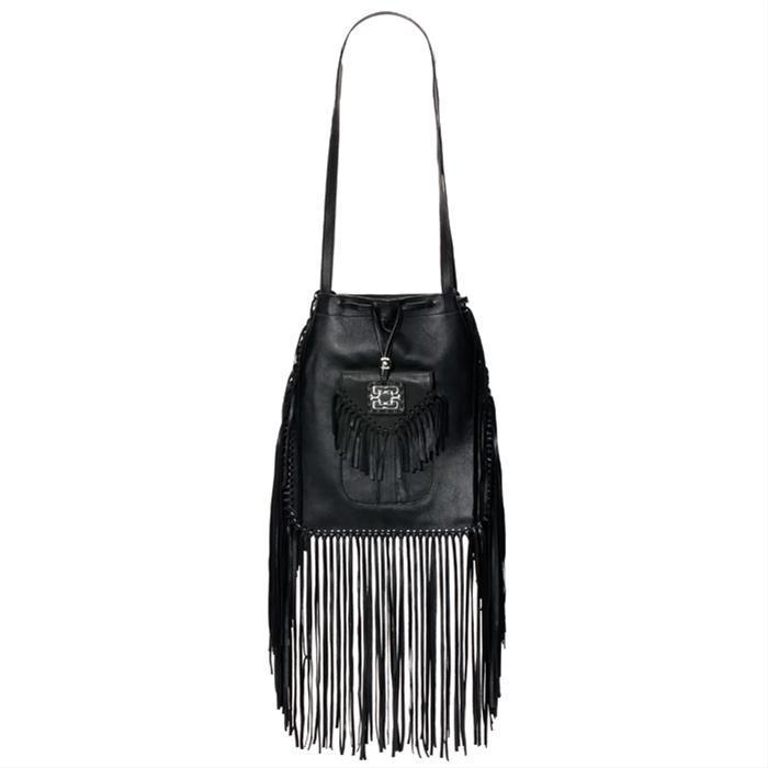 Brown Kate Fringe Bag by Genevieve Jones