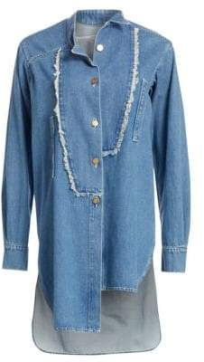 Loewe Long Asymmetrical Denim Shirt
