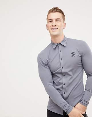 Gym King long sleeve jersey shirt in dark gray