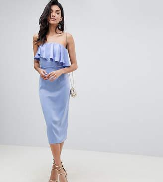 Asos (エイソス) - ASOS Tall ASOS DESIGN Tall soft bandeau crop top pencil dress