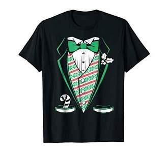 Christmas Tuxedo Holiday Tux Costume T-Shirt