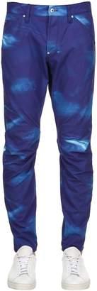Elwood Printed Tapered Denim Jeans