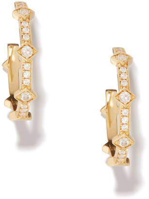 Azlee Illuminate Full Diamond Hoops Earring