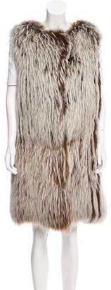 Oscar de la Renta Knee-Length Fur Vest w/ Tags
