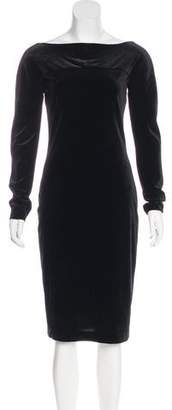 Armani Collezioni Velvet Sheath Dress