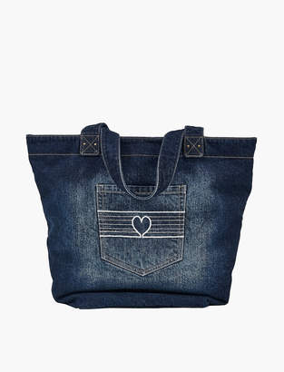 Lucky Brand DENIM EMBROIDERED TOTE