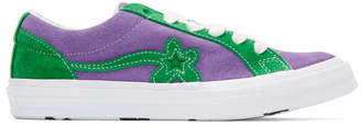 Converse Purple and Green GOLF le FLEUR* Edition GOLF 6.1 One Star Sneakers