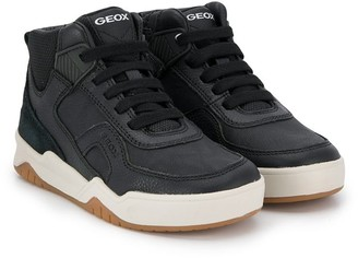 Geox Kids lace-up high-top sneakers