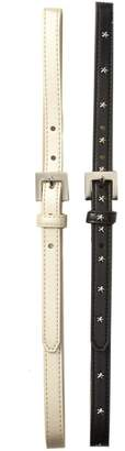 Fashion Focus ACCESSORIES Smooth with All Metal Stars Belt - Set of 2