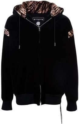 Mastermind Japan tiger print zipped hoodie