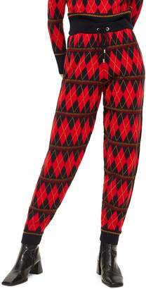 Topshop Argyle Knit Jogger Pants