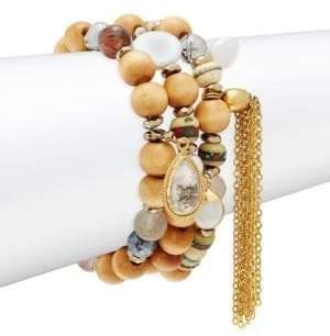 Set of Three Multi-Stone Bracelets