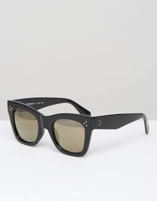AJ Morgan Oversized Square Sunglasses in Black $19 thestylecure.com