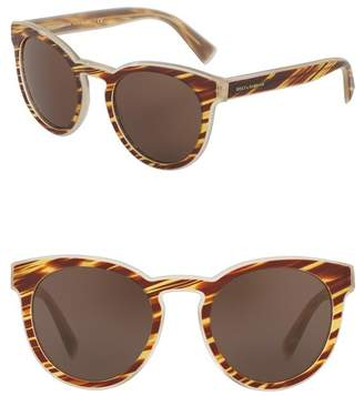 Dolce & Gabbana 53mm Solid Sunglasses