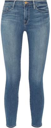 FRAME - Le Skinny De Jeanne Crop Mid-rise Jeans - Mid denim $200 thestylecure.com