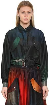 Kenzo Gradient Silk Shantung Shirt
