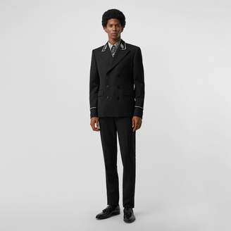 Burberry Slim Fit Bullion Wool Double-breasted Jacket