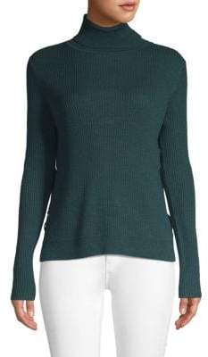 John & Jenn Armen Lace-Up Turtleneck Pullover