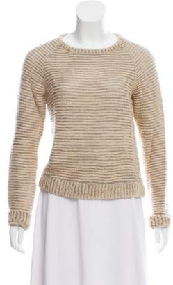 L'Agence Mohair-blend Knit Sweater