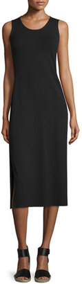 Eileen Fisher Jersey Midi Dress, Black, Plus Size $238 thestylecure.com