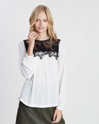 46a51ce4a75aaa Cream Lace Top - ShopStyle Australia