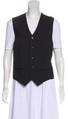 J. Lindeberg Striped Button-Up Vest