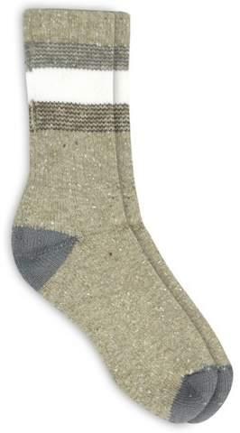 Alaska Knits Women's Timeless Crew Boot Socks - Khaki 4-10