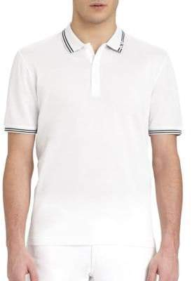 Salvatore Ferragamo Striped Polo