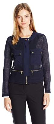 Jones New York Women's 4 Pocket Jacket with Snap Detail $129.50 thestylecure.com