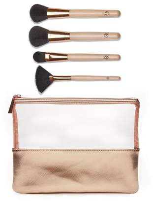 Luke Henderson 4-piece Makeup Brush Set with Case