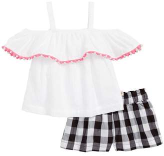 e1fbee357759 Kate Spade cold shoulder top   gingham shorts (Baby Girls)