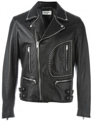 Saint Laurent studded biker jacket $5,990 thestylecure.com