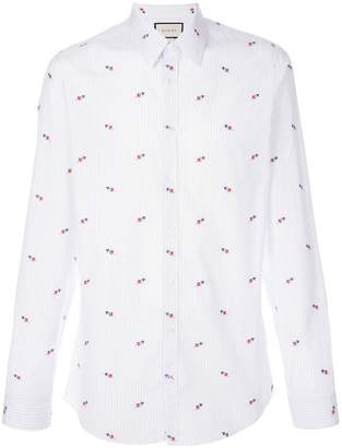 Gucci pierced hearts fil coupé shirt