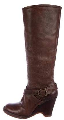 Fiorentini+Baker Leather Wedge Boots