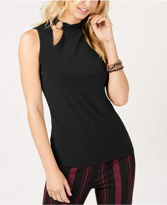 INC International Concepts I.n.c. Sleeveless Cutout Mock-Neck Top, Created for Macy's