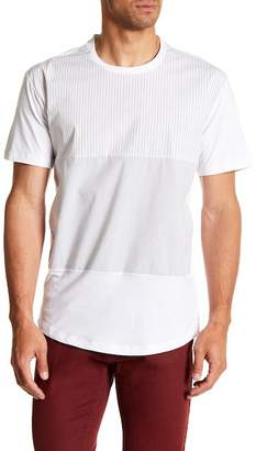 Kenneth Cole New York Woven Blocked Stripe Tee-Shirt