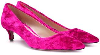 Prada Velvet kitten-heel pumps