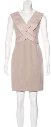 Black Halo Sleeveless Mini Dress