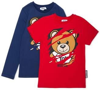 Moschino Kids Teddy logo T-shirt gift set