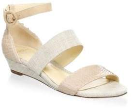 Alexandre Birman Ankle Strap Wedge Sandals