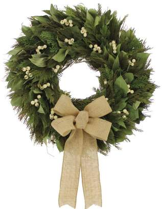 Floral Treasure Cedar and Faux Berry Wreath