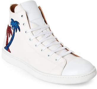 Marc Jacobs White Sequin Palms High-Top Sneakers