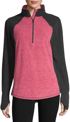 ST. JOHN'S BAY SJB ACTIVE Active Womens Turtleneck Long Sleeve Pullover Sweater-Tall