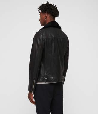 AllSaints Brett Leather Biker Jacket